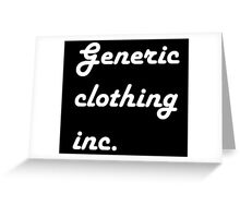 generic clothing Greeting Card