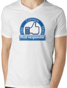 First Responder Mens V-Neck T-Shirt