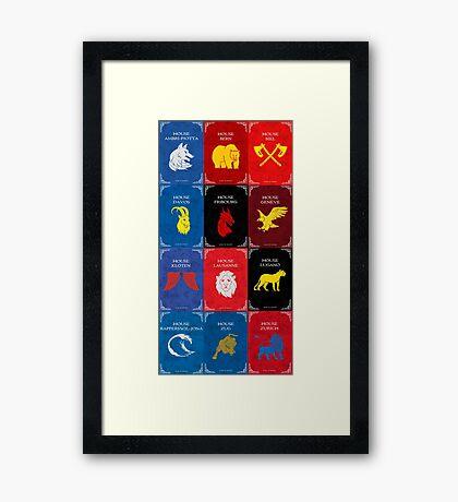 Game of Thrones - Swiss Hockey Framed Print