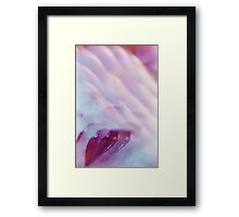 Surrealist lips young lady surreal abstract analogue portrait Framed Print