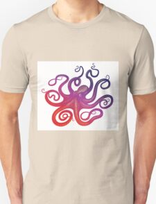 Head Footed in Violet Unisex T-Shirt