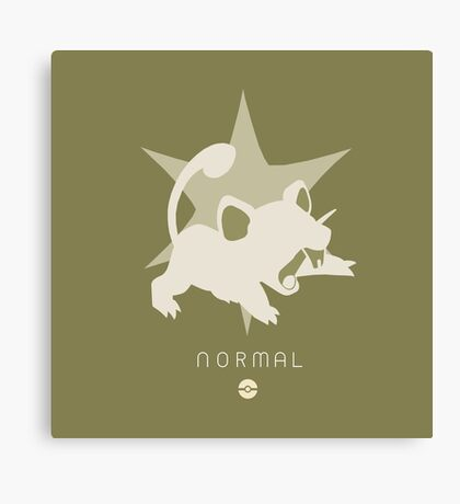 Pokemon Type - Normal Canvas Print