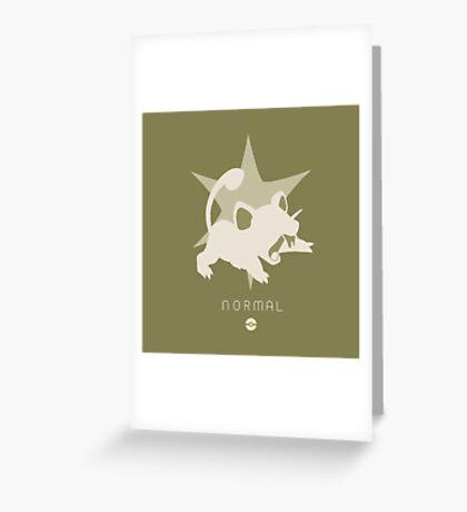 Pokemon Type - Normal Greeting Card