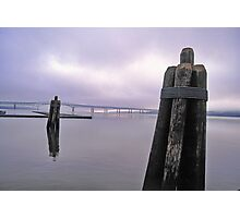 Piling in the fog Photographic Print