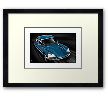 Citroen DS Poster Art Framed Print