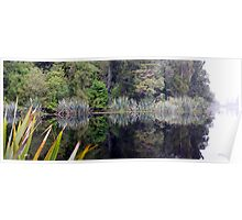 Lake Matheson Reflections Poster
