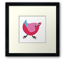 Bird with Berry Framed Print