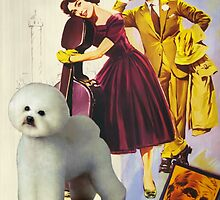 Bichon Frise Art - Love in the Afternoon - Ariane Movie Poster by NobilityDogs