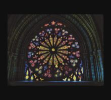 Stained Glass In Old Quito Ecuador Basilica T-Shirt