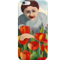 my mother among the tulips iPhone Case/Skin