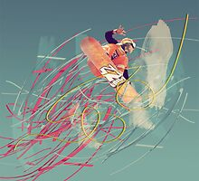 Snowboarder by Liz Loizou-Smith