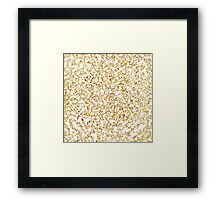 Golden Lace Framed Print