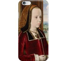 Jean Hey (called Master of Moulins), Margaret of Austria 1490 iPhone Case/Skin