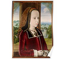 Jean Hey (called Master of Moulins), Margaret of Austria 1490 Poster