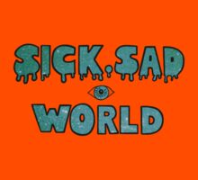 Sick, Sad World (Turquoise/blue glitter) Kids Clothes