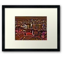 "*Fantasia"" - Uncut- Sydney Harbour And Skyline - Moods Of A City - THe HDR Experience Framed Print"