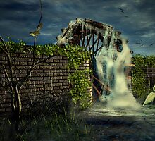 The Old Water Wheel by frogster