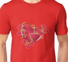 Heart with Roses Unisex T-Shirt