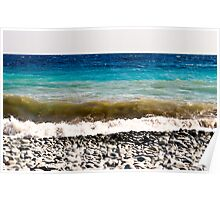 layer-cake-colors of the Mediterranean sea Poster