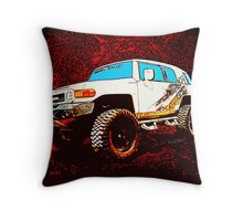 Toyota FJ Cruiser 4x4 Cartoon Panel from VivaChas Throw Pillow