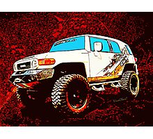 Toyota FJ Cruiser 4x4 Cartoon Panel from VivaChas Photographic Print