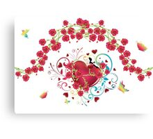 Heart with Roses 2 Canvas Print