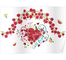Heart with Roses 2 Poster