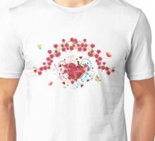 Heart with Roses 2 Unisex T-Shirt