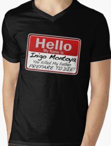 Hello My Name is Inigo Montoya Mens V-Neck T-Shirt