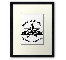 star BJJ Framed Print
