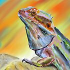 Chromatic Bearded Dragon  by ibadishi