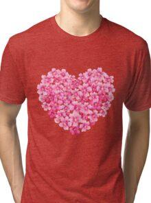 Heart flower1 Tri-blend T-Shirt