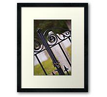 Graveyard Gate Framed Print