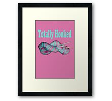 Totally hooked blue on pink version Framed Print