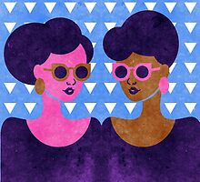 Girls in Purple and Sunglasses by TabithaBianca