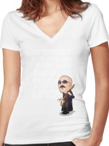 Always be Tony Levin Women's Fitted V-Neck T-Shirt
