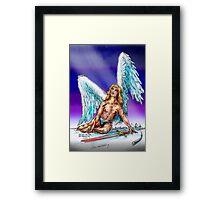 fallen Angel  sketch & Corel Photo paint Framed Print