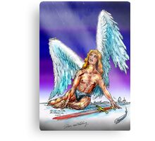 fallen Angel  sketch & Corel Photo paint Metal Print