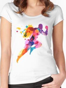 Runner Women's Fitted Scoop T-Shirt