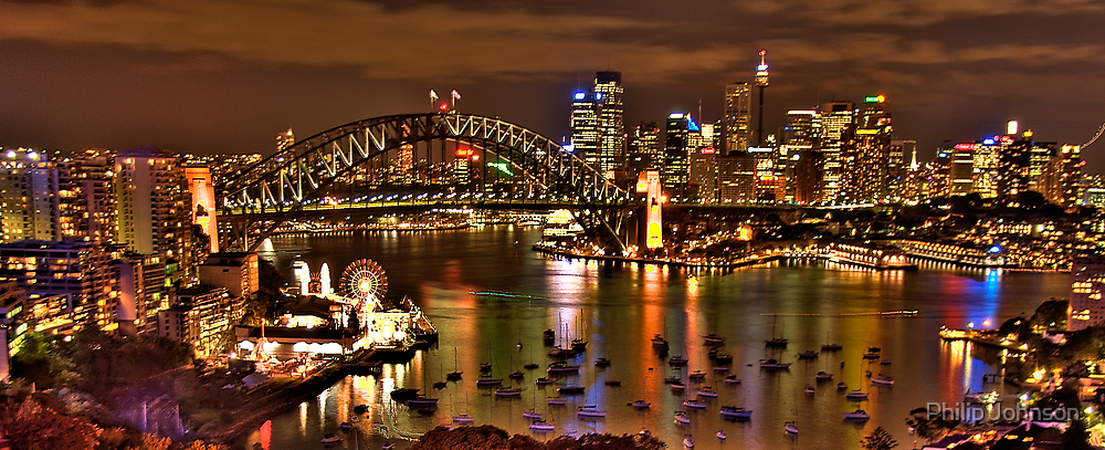"""*Fantasia""""- The Photographers Cut Sydney Harbour And Skyline - Moods Of A City - THe HDR Experience by Philip Johnson"""