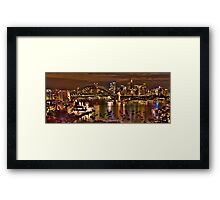 "*Fantasia""- The Photographers Cut Sydney Harbour And Skyline - Moods Of A City - THe HDR Experience Framed Print"