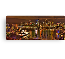 "*Fantasia""- The Photographers Cut Sydney Harbour And Skyline - Moods Of A City - THe HDR Experience Canvas Print"