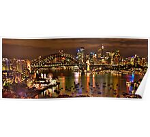 """*Fantasia""""- The Photographers Cut Sydney Harbour And Skyline - Moods Of A City - THe HDR Experience Poster"""