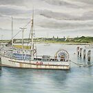 Appollo Bay seasons close (watercolour) by Ken Tregoning