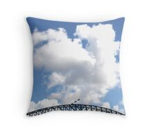 A Storm Brews HDR Throw Pillow