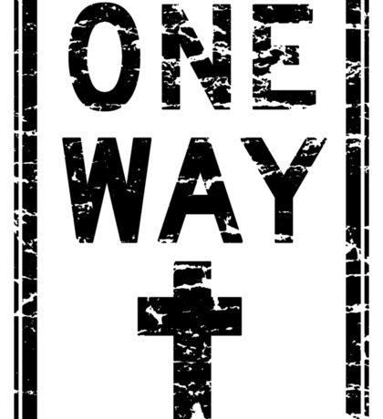 ONE WAY SIGN Sticker