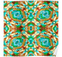 Colorful Modern Pattern Collage Poster