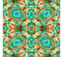 Colorful Modern Pattern Collage Photographic Print