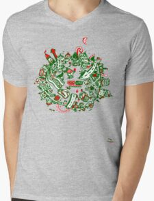 City Life  -  1 G R W Mens V-Neck T-Shirt