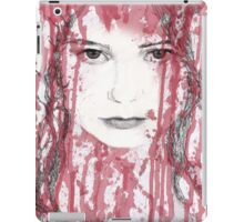 Your blood on my face iPad Case/Skin